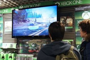 Gamers in Paris check out the Xbox One on release day, Nov. 22, 2013.
