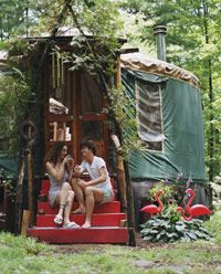 Yurts canserve as permanent residences.