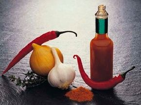 In traditional Chinese medicine, hot spices                                      are thought to overheat the stomach.