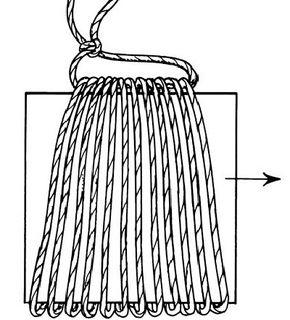 Tie a hanger on the tassel.
