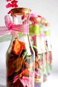 A slew of crafting supplies can be found in nature, including the dried leaves and petals used in potpourri.