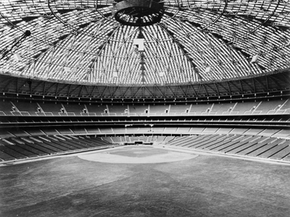 Behold, the Houston Astrodome, replete with natural grass in 1965.