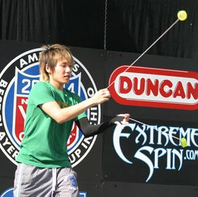 A competitor in the 2004 US National Yo-Yo Competition in Chico, Calif.