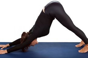 One of the most iconic yoga poses, downward facing dog stretches the shoulders, hamstrings, calves, arches, and hands.