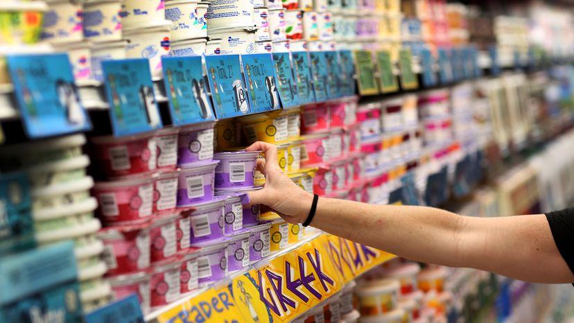 yogurt selection