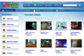 """ZuiTube's """"Funniest Videos"""" page"""