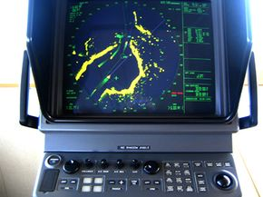 Zumwalt will need to reduce their electromagnetic energy so they don't show up on surface search radar displays like this one.