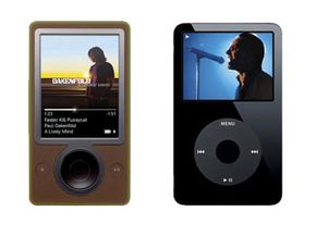 iPod Image Gallery Zune (pictured left), Microsoft's answer to the iPod.