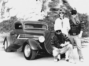 ZZ Top frontman Billy F. Gibbons had this chopped 1933 Ford built in the early 1980s -- the car would later be known as the Eliminator. See more hot rodspictures.