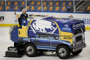 Jan. 20, 2013: A Zamboni machine tends to the ice before the Buffalo Sabres defeated the Philadelphia Flyers 5-2 at the First Niagara Center in Buffalo, NY.