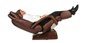 The Human Touch HT-7450 Zero-Gravity Massage Chair in full recline mode. See more pictures of essential gadgets.