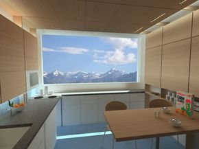 Windows in the zeroHouse use special material that resists heat flow to keep the climate control systems from wasting too much energy.