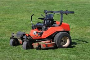 You can generally tell you're looking at a zero-turn mower if it has two control levers instead of a steering wheel. Occasionally, you'll find one that sports a steering wheel or even a joystick at the helm.