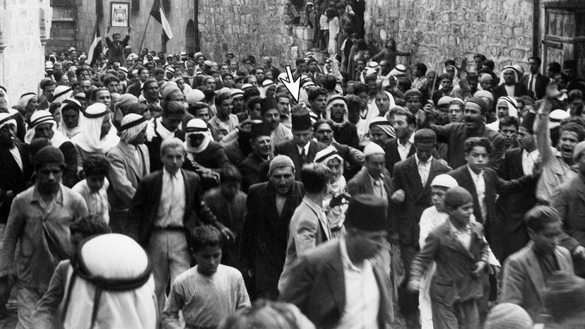 Arab demonstration against Jewish immigration, 1938