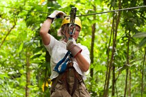 Using the right safety equipment, including a harness and helmet, will help you stay safe when using a zip line.