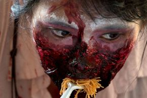 It doesn't matter what you eat, zombie. It's all still going to ferment and lead to an unpleasant explosion.