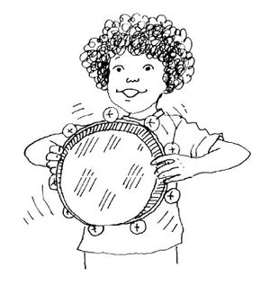 Shake it up with this pie pan tambourine!