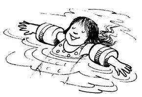 A personal flotation device will keep you safely afloat.