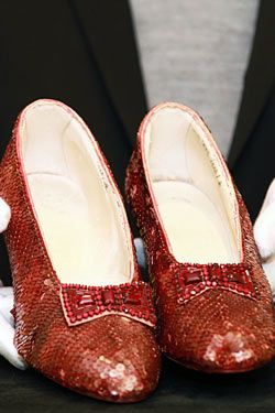Just three pairs of the iconic ruby slippers from The Wizard of Oz remain.