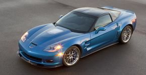 Carbon fiber parts were used to reduce weight on the 2009 Corvette ZR1. See more sports car pictures.