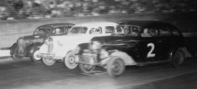 Bowman Gray Stadium in Winston-Salem, N.C., opened in June 1947 with a variety of stock car races. The tiny 1/4-mile track featured narrow dimensions, but the drivers still ran three-abreast. Bowman Gray hosted weekly events, but didn't stage any NCSCC championship meets in 1947.
