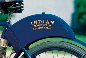 """The 1904 Indian was known as a """"humpback""""                              because of the shape of its gas tank."""