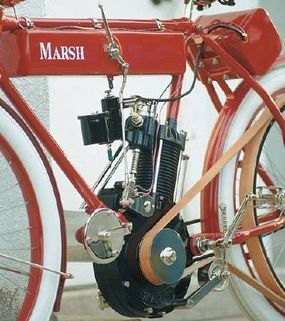 In a practice common at the time, the Marsh used the engine as a structural frame member.