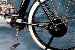 Pierce's shaft drive was a first for American-made bikes.