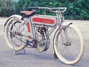 Ignatz Schwinn was better known for his bicycles than for motorcycles like his 1911 Excelsior. See more motorcycle pictures.