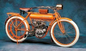 """The 1911 Flying Merkel offered simple but effective """"Merkel-style"""" front forks."""