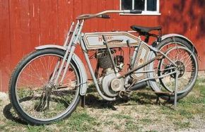Though the Harley-Davison X9A's 4.3 horsepower doesn't sound like much, it represented a lot of muscle for 1912.