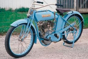 The 1915 Emblem Twin boasted a bigger engine than most rival motorcycles. See more motorcycle pictures.