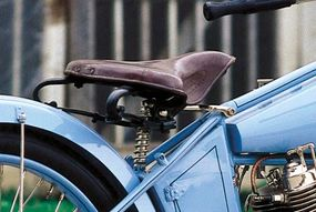 The seat was cushioned with two large leaf springs and a sprung seatpost.