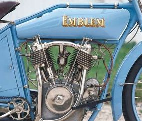 At 76.6 cubic inches, Emblem's V-twin was larger than most others of the time.