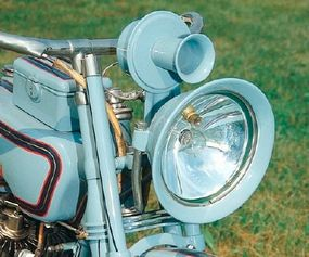 Electric lighting that had become available in 1915 was fitted to this 1916 J.