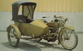 The 1918 Harley-Davidson 18-J's sidecar was one of the company's most popular accessories. See more motorcycle pictures.