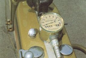 The speedometer was mounted to the 18-J's tank.