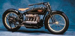 There was no front brake on the 1920 Ace.