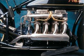 Ace's F-head inline four displaced 77 cubic inches.