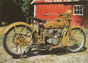 The 1920 Harley-Davidson 20-J introduced a number of styling changes. See more motorcycle pictures.
