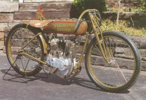 The 1920 Harley-Davidson 20-J helped Harley dominate the race circuit.