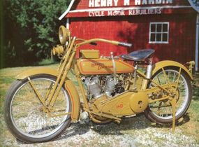 The 20-J featured a powerful V-twin engine.