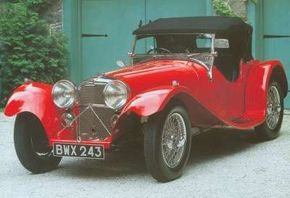 The line of cars William Lyons began making in 1931 eventually included sports cars like this 1937 SS Jaguar 100. See more pictures of Jaguars.