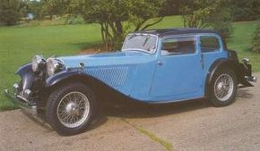 Early versions of the SS1 included this 'four-light saloon' from 1934.