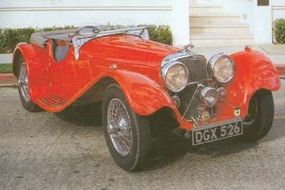 Based on the earlier rare SS90 sports car, the 1936 SS Jaguar 100 featured the Standard 2.5-liter ohv six.