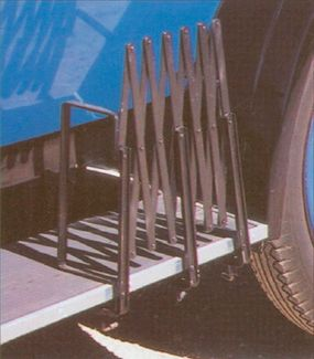 The accessory gate on the running board was an additional option.