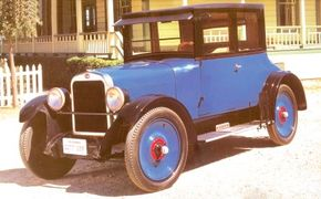 """The 1924 6-54A was widely known as the """"True Blue Oakland Six."""" See more classic car pictures."""