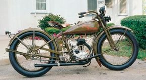 Single-cylinder motorcycles, such as the 1927 Harley-Davidson BA, never enjoyed great popularity with the buying public. See more motorcycle pictures.