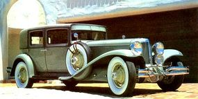 The Cord L-29 was available in four-door sedan, brougham, and convertible, as well as a rumble-seat cabriolet. Featured is a close-coupled brougham.