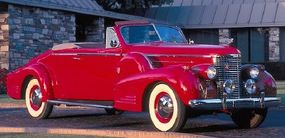 """Cadillac introdued a """"second-series"""" Sixteen with a new short-stroke engine  for 1938. The 1939 Cadillac Sixteen convertible is pictured here."""